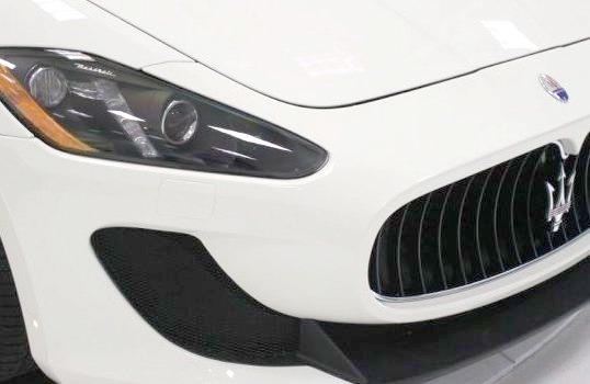 Front of White Maserati
