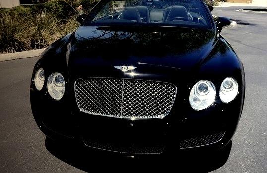 Convertible, Bentley Continental, Black, Contintental, Luxury Car